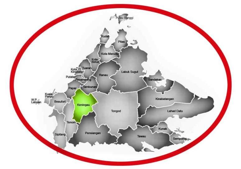 map-keningau-sabah-malaysia